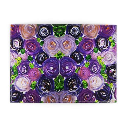 Purple Roses Passport Cover