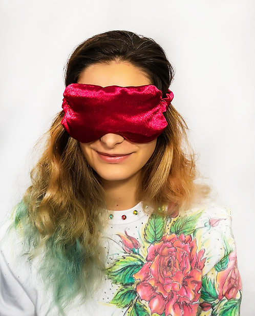 Red Satin Eye Cover Mask