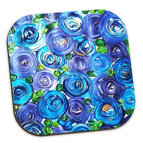 Blue Roses Coaster