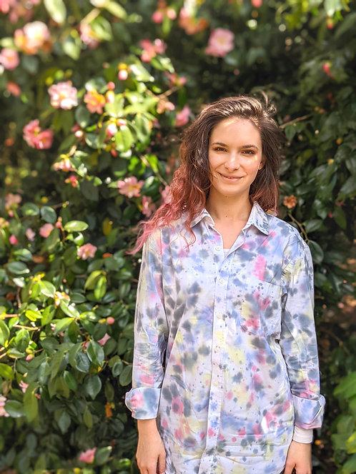 Pastel Rainbow Dalmatian Tie Dye Shirt