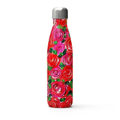 Red Roses Stainless Steel Thermal Bottle