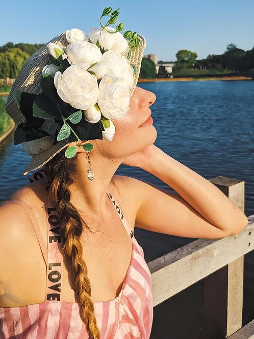 Ivory Flowers Sunhat