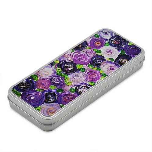 Purple Roses Pencil Case