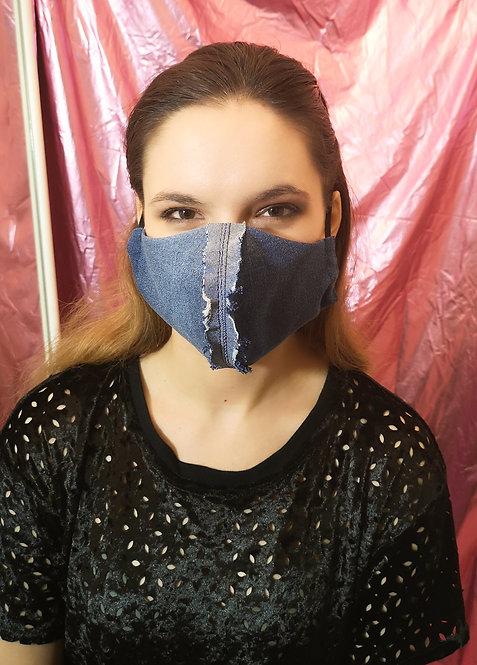 Zero Waste Denim Face Cover