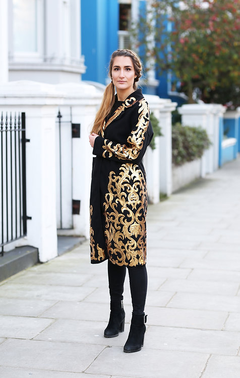 Gold Baroque Queen Coat