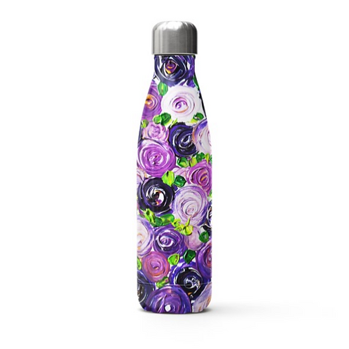 Purple Roses Stainless Steel Thermal Bottle
