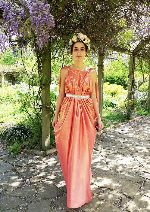 Gold Shimmering Coral Hera Dress