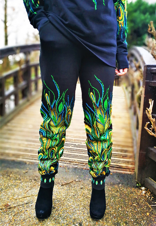 Green Peacock Tracksuit pants
