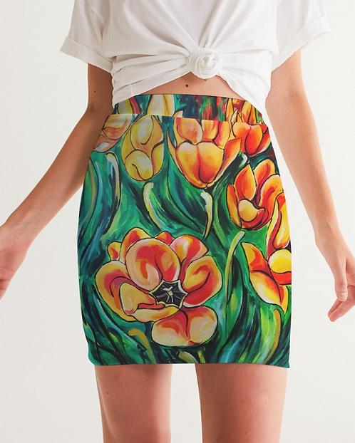 Summer Flowers Women's Mini Skirt