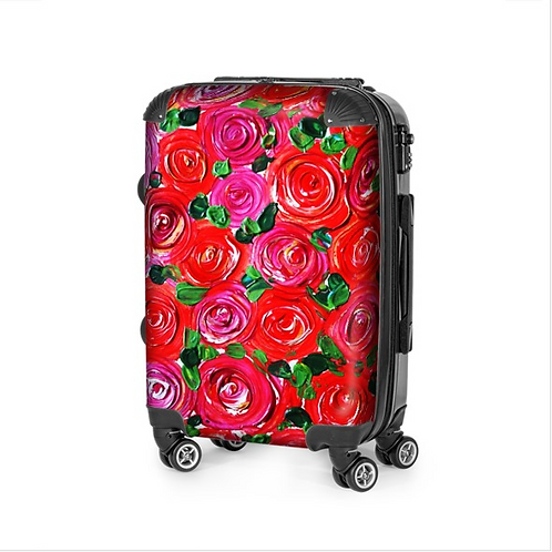 Red Roses Travel Suitcase