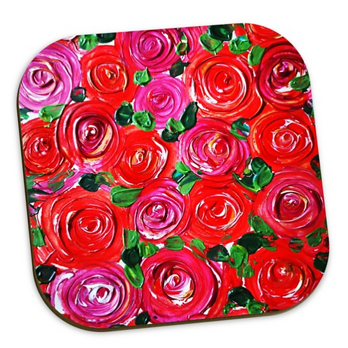 Red Roses Coaster