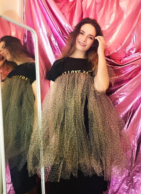 Leopard Print Tulle Skirt
