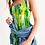 Thumbnail: Abstract Greenery Women's Midi Bodycon Dress
