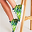 Thumbnail: Abstract Greenery Women's Hightop Canvas Shoe