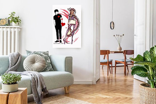 Flirting Game Fashion Illustration Print
