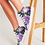 Thumbnail: Purple Secret Garden Women's Hightop Canvas Shoe