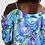 Thumbnail: Blue Secret Garden Women's Open Shoulder A-Line Dress