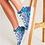 Thumbnail: Blue Secret Garden Women's Hightop Canvas Shoe