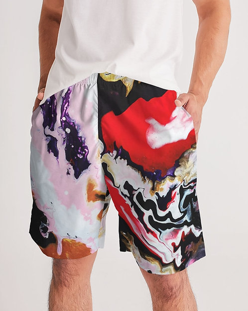 Pouring Contrast Men's Jogger Shorts
