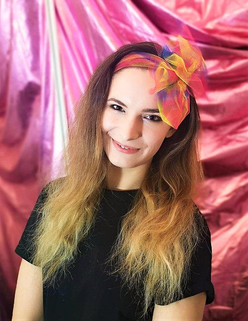 Rainbow Tulle Hairband