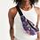 Thumbnail: Purple Secret Garden Crossbody Sling Bag