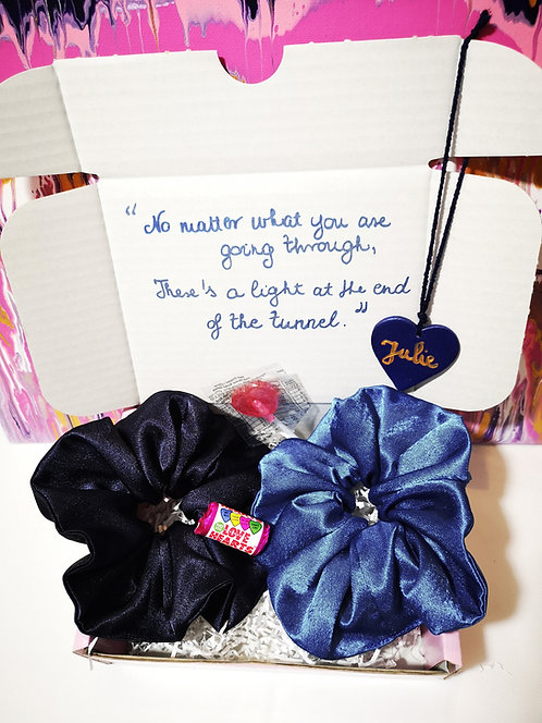 Send Some Love Scrunchies Gift Box Care Box (Blue Tones)