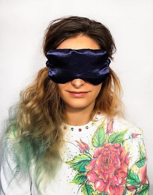 Navy Satin Eye Cover Mask