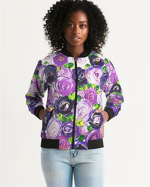 Purple Secret Garden Women's Bomber Jacket