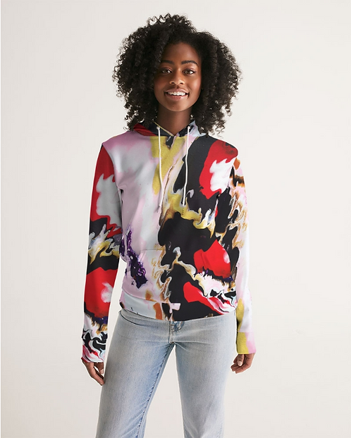 Pouring Contrast Women's Hoodie