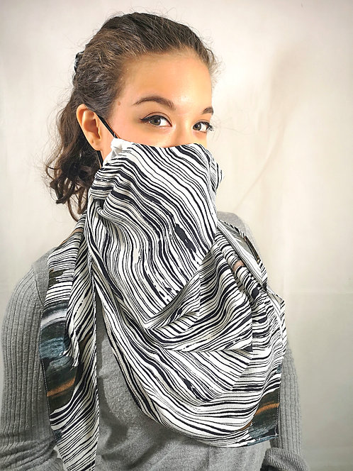 Mocha Splash Scarf Mask