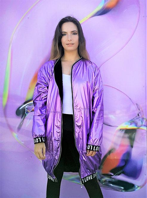 Purple Metallic Waterproof Jacket
