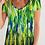Thumbnail: Abstract Greenery Women's V-Neck Tee