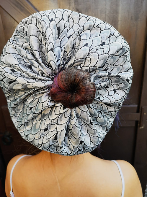 Extra Large Luxe Silver Brocade Scrunchie