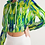 Thumbnail: Abstract Greenery Women's Cropped Hoodie