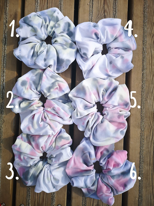 Pastel Tie Dye Scrunchies of your choice