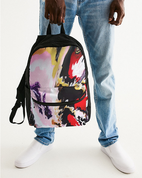 Pouring Contrast Small Canvas Backpack