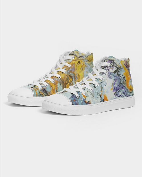 Pouring Gold Men's Hightop Canvas Shoe