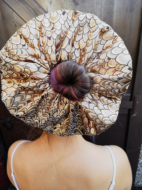 Extra Large Luxe Gold Brocade Scrunchie