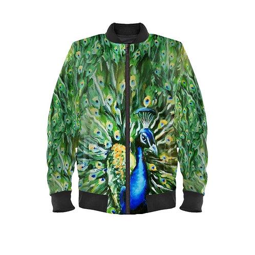 Peacock Ladies Bomber Jacket
