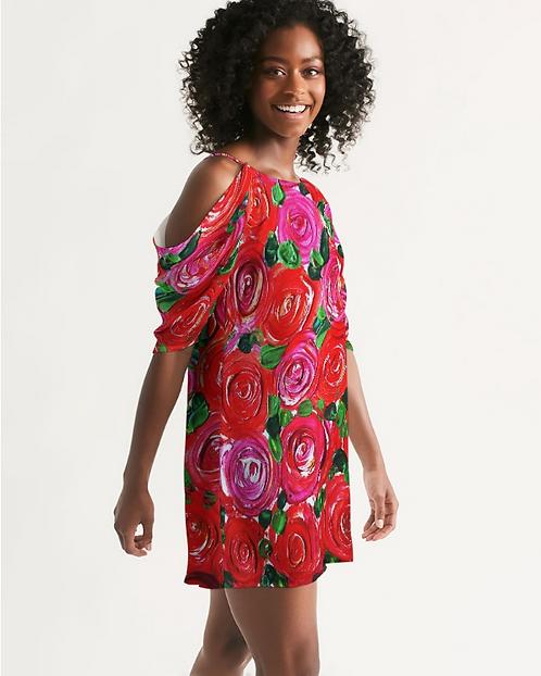 Secret Garden Women's Open Shoulder A-Line Dress