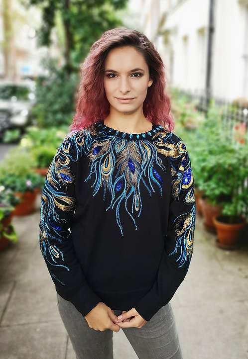 Blue Peacock Jumper