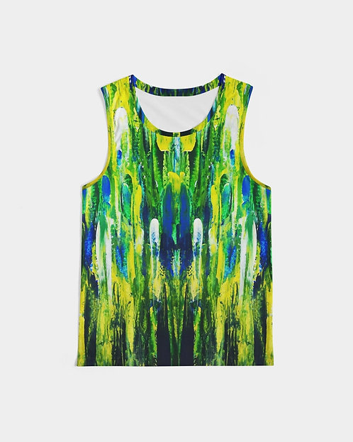 Abstract Greenery Men's Sports Tank