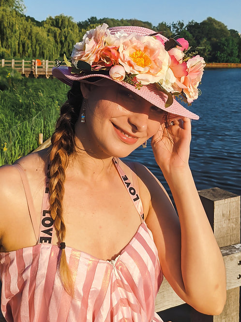Pink Flowers Sunhat