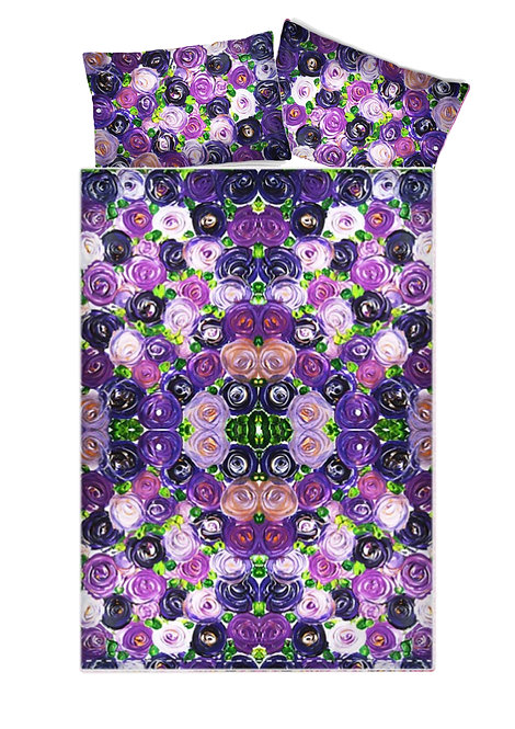 Purple Roses Duvet Covers
