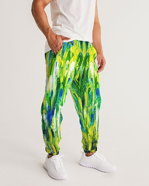 Abstract Greenery Men's Track Pants