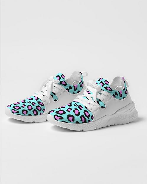 Funky Cheetah Print Women's Two-Tone Sneaker
