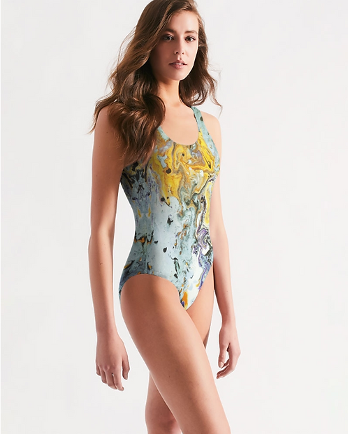 Pouring Gold Women's One-Piece Swimsuit