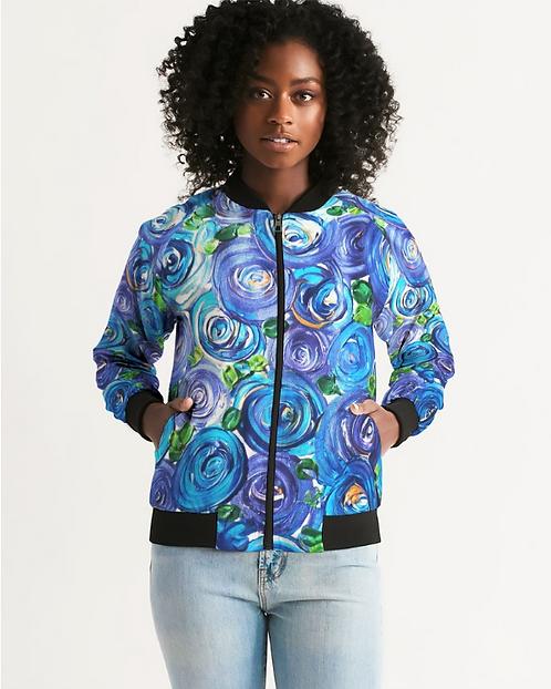 Blue Secret Garden Women's Bomber Jacket