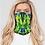 Thumbnail: Abstract Greenery Print Neck Gaiter Set