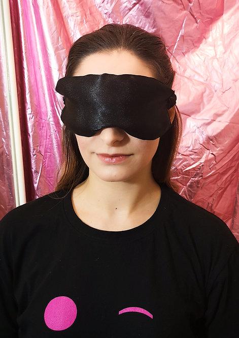 Black Satin Eye Cover Mask